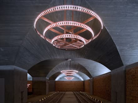 Adega de Vale D'Algares: Adegas modernas por TALL AND TALLER International - Arquitetos e Consultores, Lda