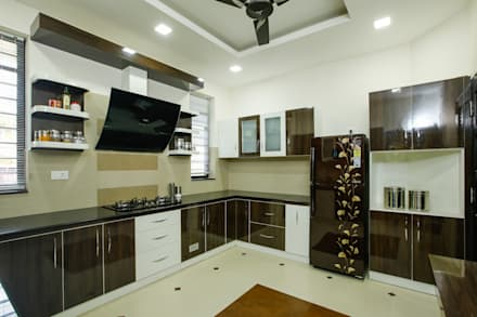 A Young & Youthful Design: classic Kitchen by Premdas Krishna