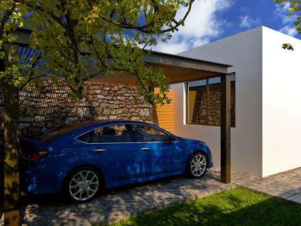 CASA R-W: Garajes de estilo moderno por TIZA