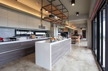 modern Kitchen by 築里館空間設計