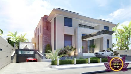 Architectural project in modern style by Katrina Antonovich: modern Houses by Luxury Antonovich Design