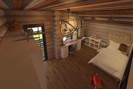 РУССКОЕ ШАЛЕ: Детские комнаты в . Автор – atmosvera