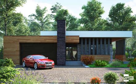 Современный одноэтажный дом: Дома в . Автор – Sboev3_Architect