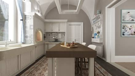 VILLA DG: Cucina in stile in stile Mediterraneo di De Vivo Home Design
