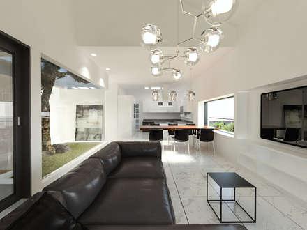 충청남도 금산시 전원주택: 디자인 이업의  거실