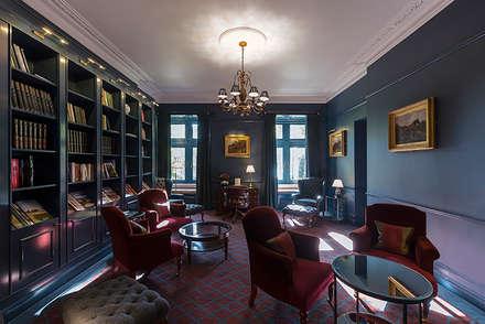 The Farmers Club Whitehall Library_01:  Bars & clubs by helen hughes design studio ltd