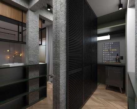 SUÍTE ZION: Closets industriais por TÉRREO arquitetos