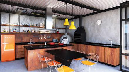 GOURMET + ATELIER  : Cozinhas modernas por Macro Arquitetos