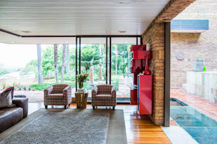 House Hoffman: modern Living room by Swart & Associates Architects