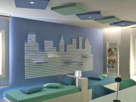 VIVIENDA UNIFAMILIAR: Dormitorios infantiles de estilo moderno de JUSTO DEL RIO D.I.