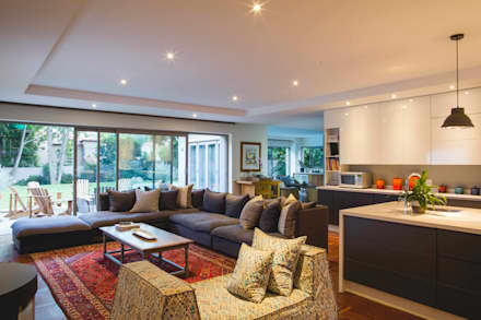 House Pont: modern Living room by Swart & Associates Architects