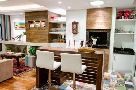 Apartamento Eça : Salas de jantar modernas por AZ Arquitetura