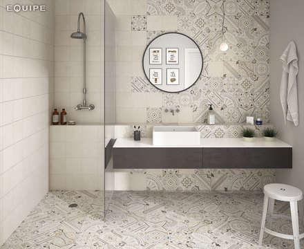 Micro: Baños de estilo moderno de Equipe Ceramicas