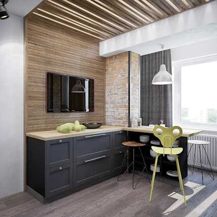 industrial Kitchen by Interior designers Pavel and Svetlana Alekseeva