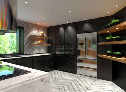 Private House: Cozinhas modernas por Tiago Martins - 3D