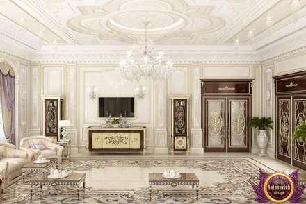 Luxury majlis design of Katrina Antonovich: classic Living room by Luxury Antonovich Design