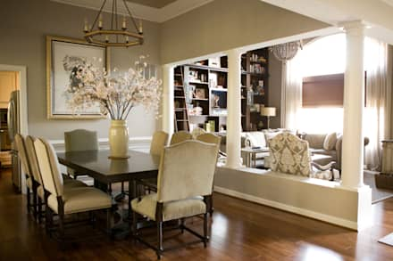 Star Power - Dining Room: classic Dining room by Lorna Gross Interior Design