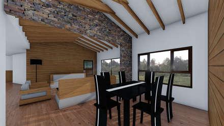 CASA AN: Comedores de estilo rural por EjeSuR Arquitectura