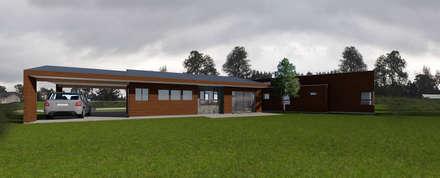 CASA AN: Casas de estilo rural por EjeSuR Arquitectura