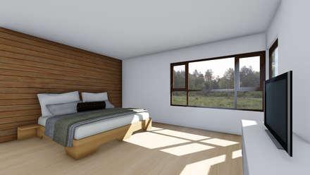 CASA AN: Dormitorios de estilo rural por EjeSuR Arquitectura