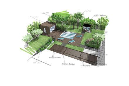 CROQUIS - ETUDES - CONCEPTION: Jardin de style de style Moderne par Agence MORVANT & MOINGEON