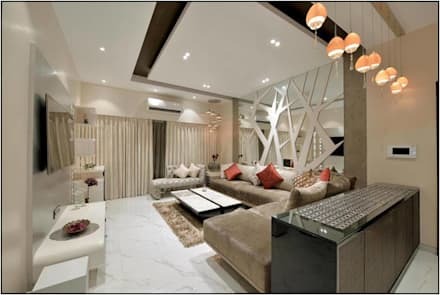 Residential Projects: modern Living room by The Workroom