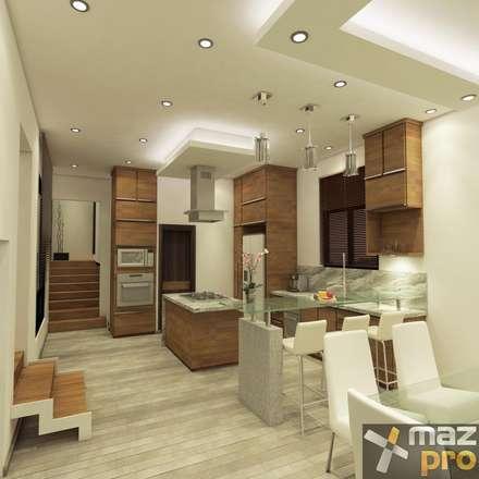 COCINA: Cocinas de estilo moderno por Mazpro Arquitectura
