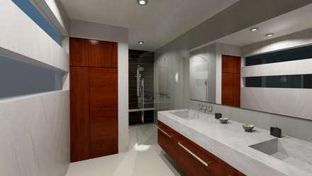 Renders Interiores: Baños de estilo  por CouturierStudio