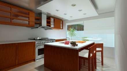 Renders Interiores: Cocinas de estilo moderno por CouturierStudio