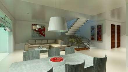 Renders Interiores: Comedores de estilo moderno por CouturierStudio
