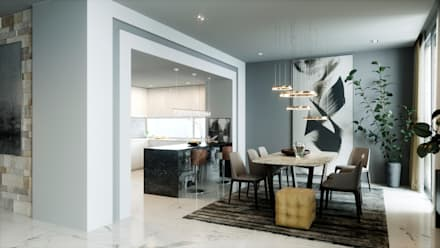 modern Dining room by Accurate Curves