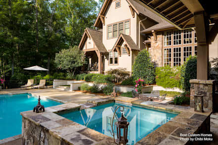 Bost Builders - High Country Craftsman - Exterior 6: moderner Pool von Chibi Moku