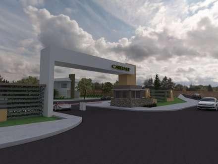 acceso principal jardines de estilo moderno por gastn blanco arquitecto