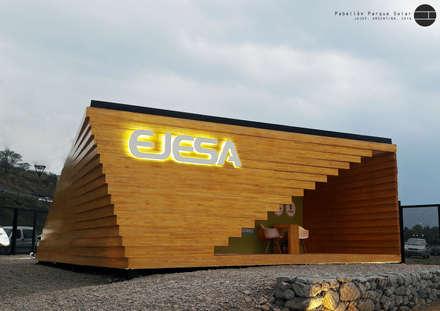 Pabellón Solar: Centros de exposiciones de estilo  por Horizontal Arquitectos