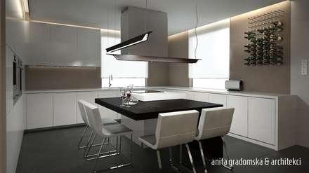 MIEJSKA REZYDENCJA: styl , w kategorii Jadalnia zaprojektowany przez Anita Gradomska & Architekci - Interiors