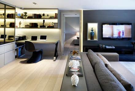 study room: modern Study/office by Esra Kazmirci Mimarlik