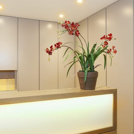 Reception desk:  Clinics by Studio 29 Architects ltd