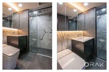 도곡동 롯데캐슬모닝아파트 / 52평형 아파트 인테리어: 오락디자인의  화장실