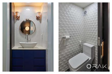 사당동 우성아파트 2차 / 35평형 아파트 인테리어: 오락디자인의  화장실