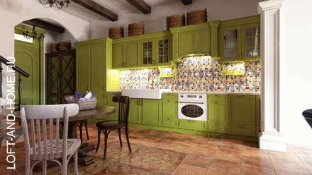 АКАДЕМИЯ ПАРК, 145, КОЛОНИАЛЬНЫЙ: Кухни в . Автор – Loft&Home