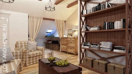 АКАДЕМИЯ ПАРК, 145, КОЛОНИАЛЬНЫЙ: Гостиная в . Автор – Loft&Home