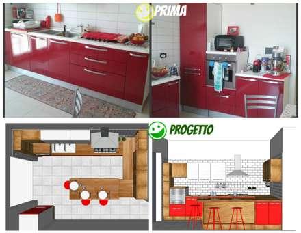 Rinnovare la cucina senza cambiarla.: Cucina in stile in stile Minimalista di T.A. arredo arredamento su misura