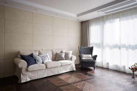modern Living room by CASA GREIGE(까사그레이지)