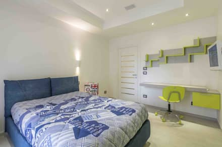 Appartamento FC: Stanza dei bambini in stile in stile Moderno di ABBW angelobruno building workshop