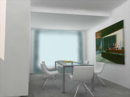 Small seaside home project: Sala da pranzo in stile in stile Minimalista di ibedi laboratorio di architettura