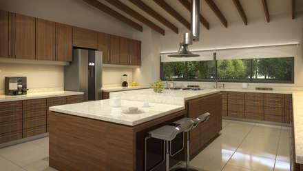 Residencia BGRR: Cocinas de estilo moderno por Estudio Colectivo de Arquietctura