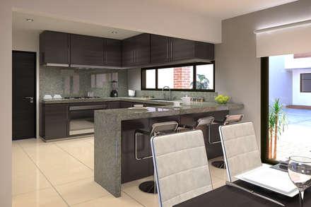 Ampliación remodelación Casa RV: Cocinas de estilo moderno por Estudio Colectivo de Arquietctura