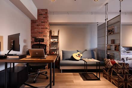 ห้องทำงาน/อ่านหนังสือ by 耀昀創意設計有限公司/Alfonso Ideas