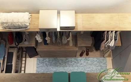 Спальня и гостевая в современном стиле: Гардеробные в . Автор – Компания архитекторов Латышевых 'Мечты сбываются'