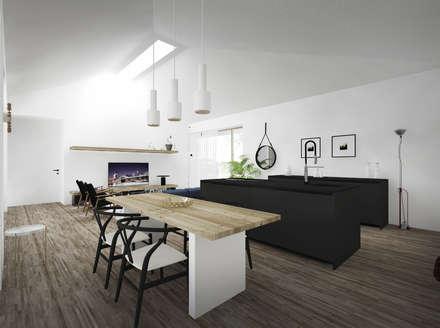 HOUSE FB: Cucina in stile in stile Minimalista di Didonè Comacchio Architects